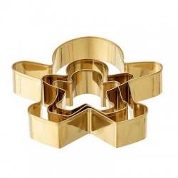 Set de 3 emportes pièces dorés