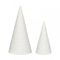 Arbre de Noël blanc en céramique