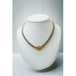 Collier Or Jaune & Or Blanc - Maille Palmier