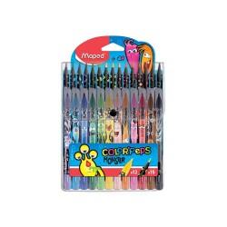 12 Crayons de couleur et 12...