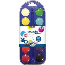 Gouache Pébéo - 12 pastilles sèches